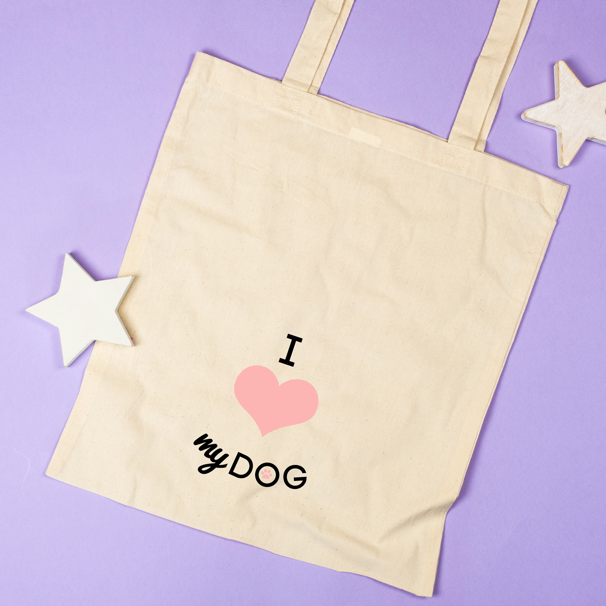 i love my dog shopping bag