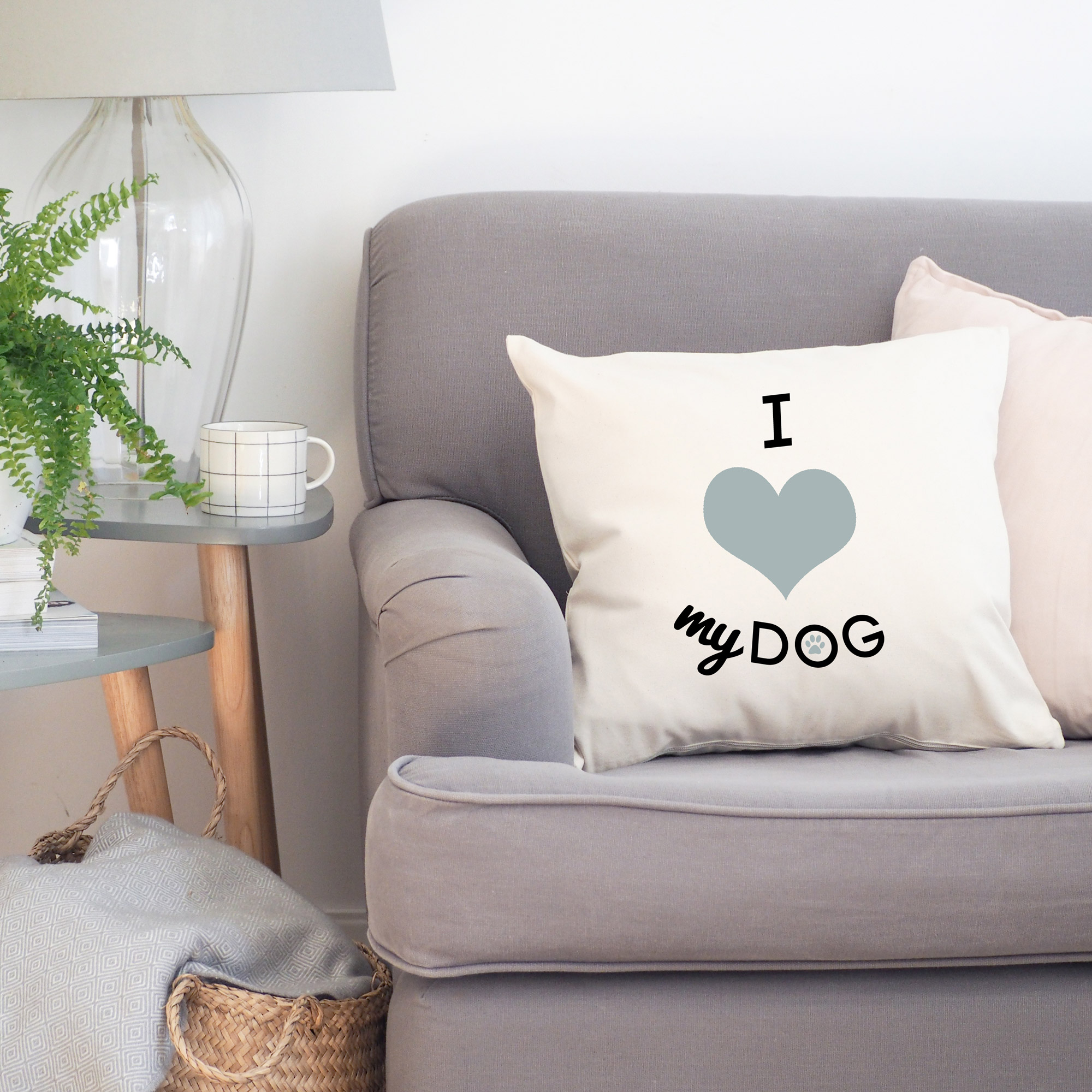 i heart my dog cushion cover