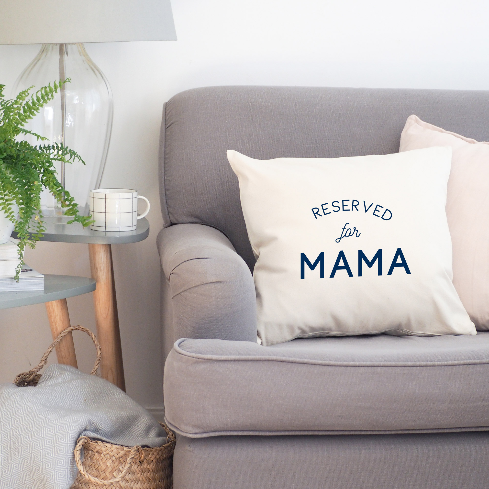 reserved for mama cushion cover